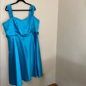 Teal Short Formal Dress with Straps